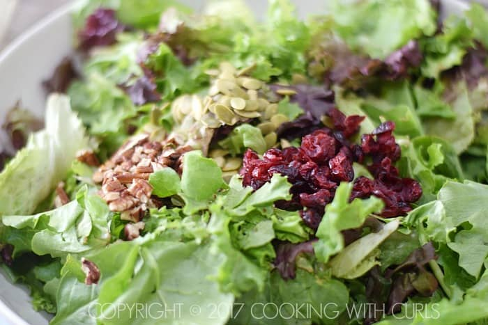 Apple Harvest Salad recipe cranberries COPYRIGHT © 2017 COOKING WITH CURLS