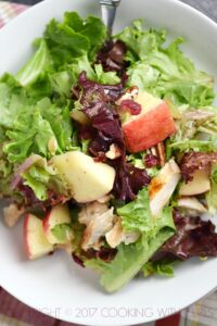 Apple Harvest Salad with chicken and apple cider vinaigrette