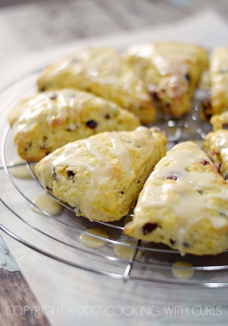 Cranberry-Orange Scones Recipe COPYRIGHT © 2017 COOKING WITH CURLS