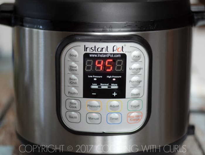 Instant Pot 45 COPYRIGHT © 2017 COOKING WITH CURLS