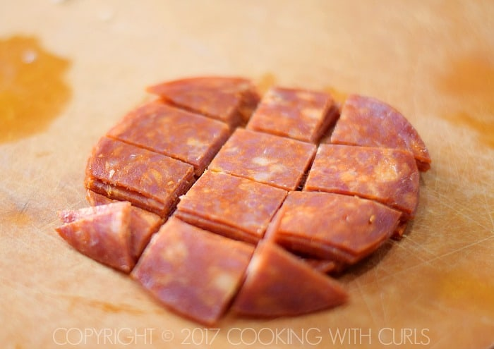 Instant Pot Pepperoni Pizza Meatloaf recipe cut COPYRIGHT © 2017 COOKING WITH CURLS