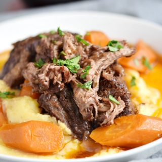 Instant Pot Wine Braised Beef Short Ribs