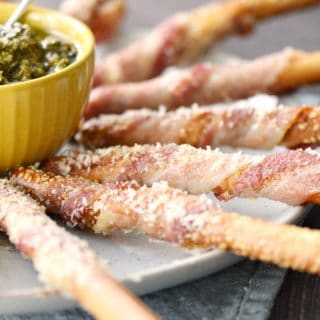 Bacon-Wrapped Breadsticks Appetizer