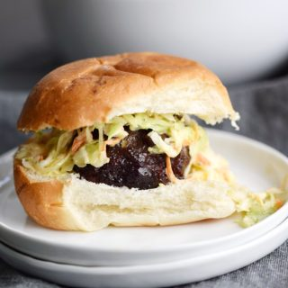 Blackberry-Bourbon Burger Sliders