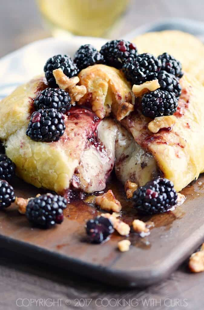 Blackberry Walnut Baked Brie COPYRIGHT © 2017 COOKING WITH CURLS