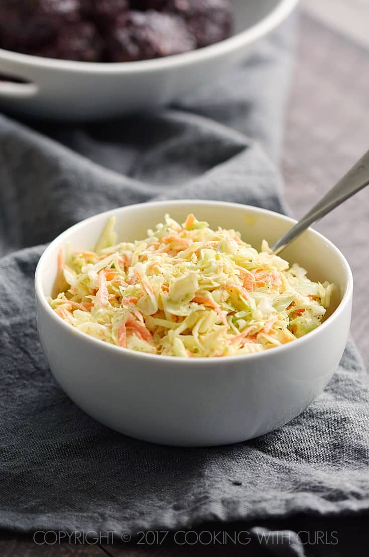 Creamy Coleslaw COPYRIGHT © 2017 COOKING WITH CURLS
