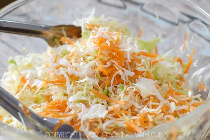 Creamy Coleslaw toss together COPYRIGHT © 2017 COOKING WITH CURLS