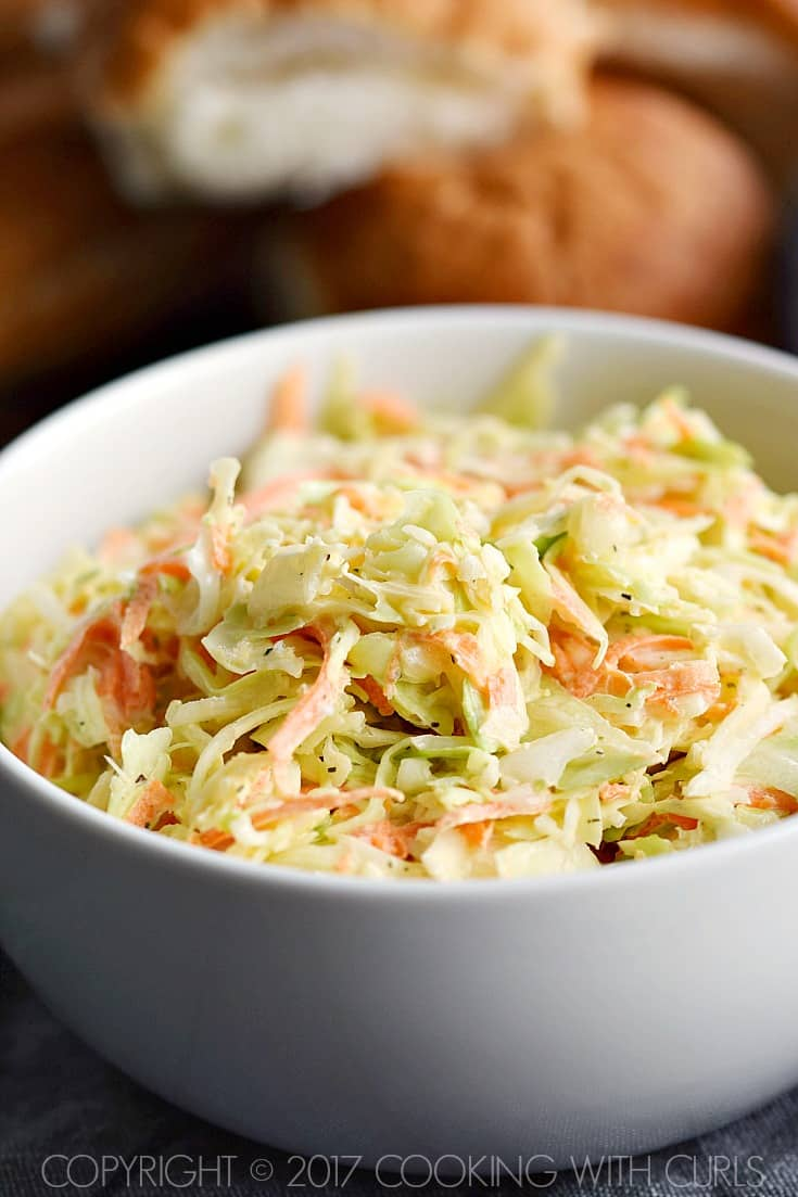 Crunchy, tangy, and Creamy Coleslaw | COPYRIGHT © 2017 COOKING WITH CURLS