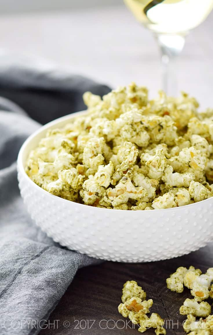 Ignite your taste buds with Salsa Verde Popcorn, just make sure you have something to drink while you are snacking! COPYRIGHT © 2017 COOKING WITH CURLS