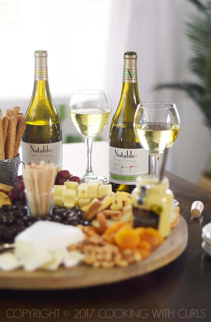 Msg 4 21+ The Ultimate Appetizer Board designed to pair perfectly with #Chardonnay cookingwithcurls.com #Chardonnation #ad #NotableHoliday