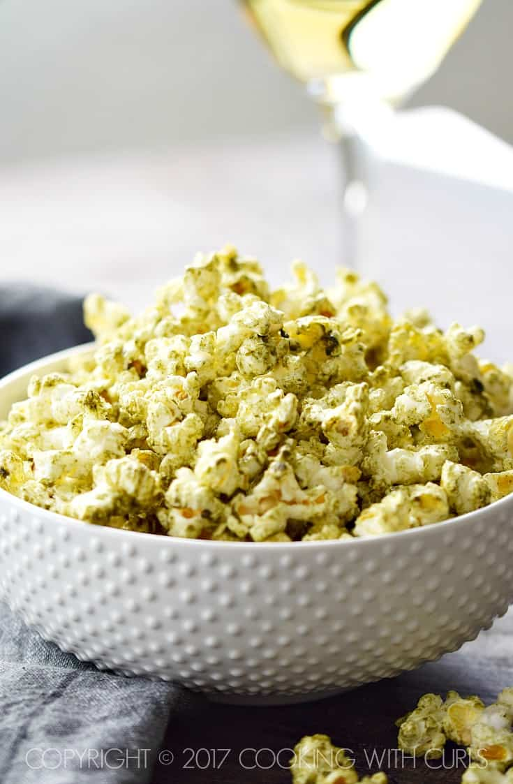 Salsa Verde Popcorn | COPYRIGHT © 2017 COOKING WITH CURLS
