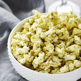 Tantalizing, spicy, and unexpected are the best ways to describe this Salsa Verde Popcorn...and of course, delicious! COPYRIGHT © 2017 COOKING WITH CURLS