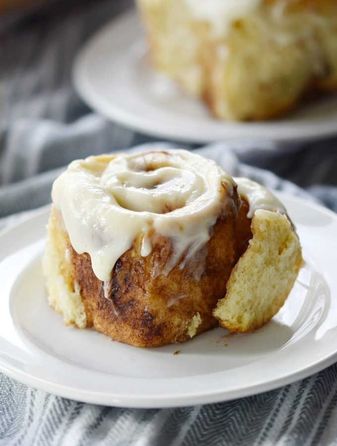 The Best Cinnamon Rolls with Two Topping Options will make the entire family happy! COPYRIGHT © 2017 COOKING WITH CURLS