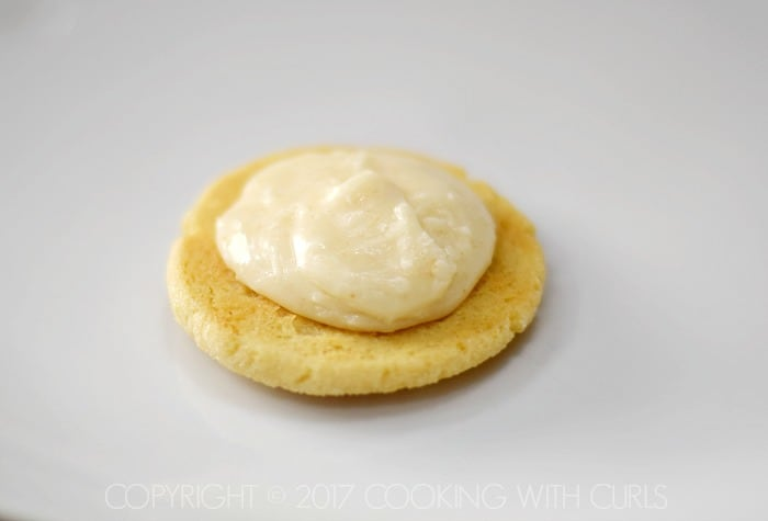 Caramel Cream Sandwich Cookies frost COPYRIGHT © 2017 COOKING WITH CURLS