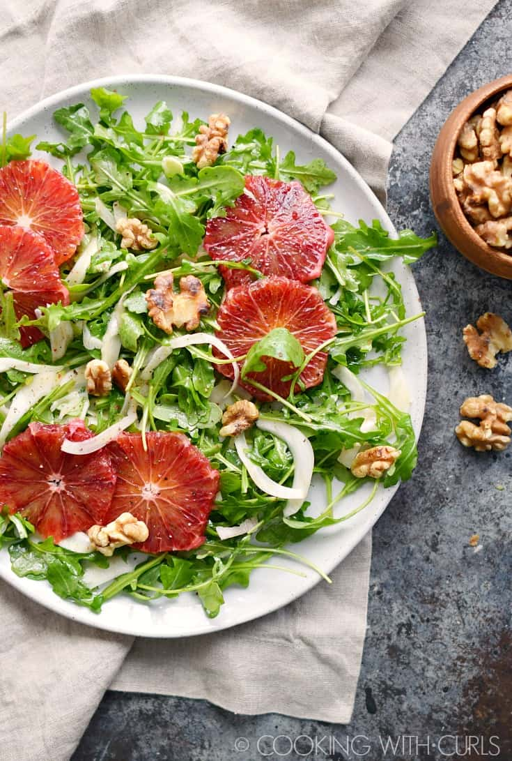 Arugula Salad with Fennel and Blood Oranges © COOKING WITH CURLS