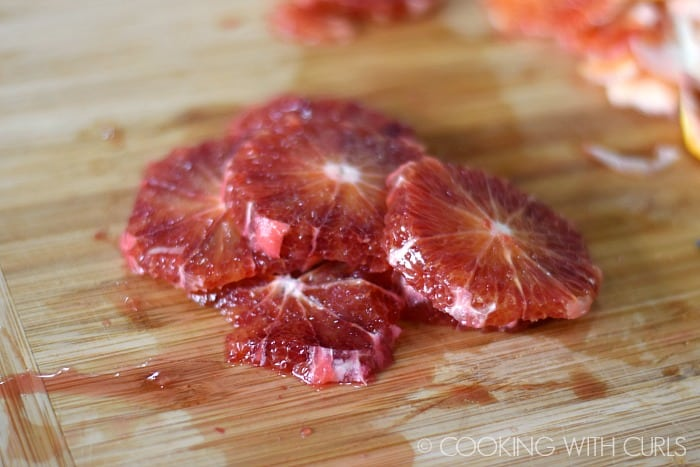 Arugula Salad with Fennel and Blood Oranges thinly slice the oranges © COOKING WITH CURLS