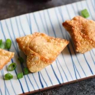 Crispy Pork Wontons with Sweet and Sour Dipping Sauce © COOKING WITH CURLS