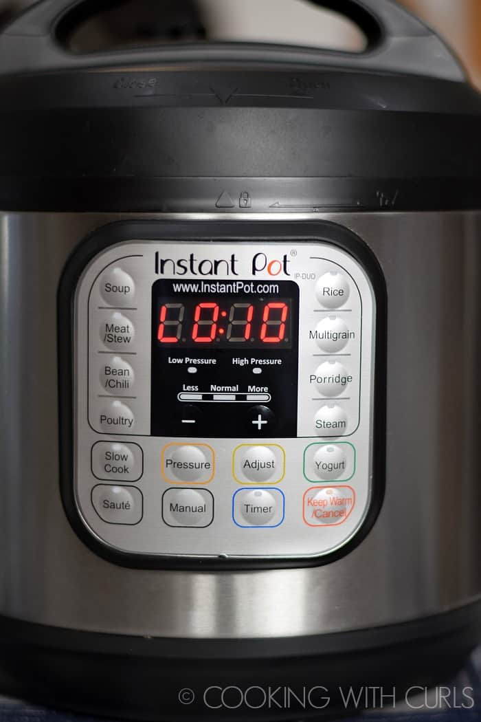 Instant Pot Fried Rice natural pressure release for 10 minutes