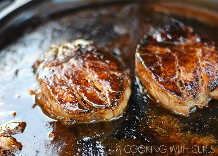 Pour the marinade over the Japanese Hibachi Steak and Salmon and cook until done