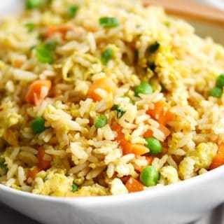 Skip the takeout and make this simple Instant Pot Fried Rice at home any night of the week! © COOKING WITH CURLS