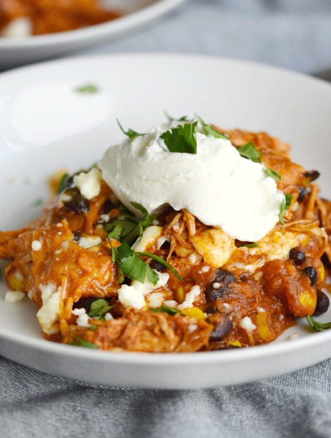 This easy and delicious Instant Pot Mexican Casserole will make the whole family smile! © COOKING WITH CURLS