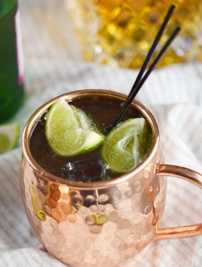 An Irish Mule cocktail is a simple and delicious way to celebrate St. Patrick's Day, or a Friday! © COOKING WITH CURLS
