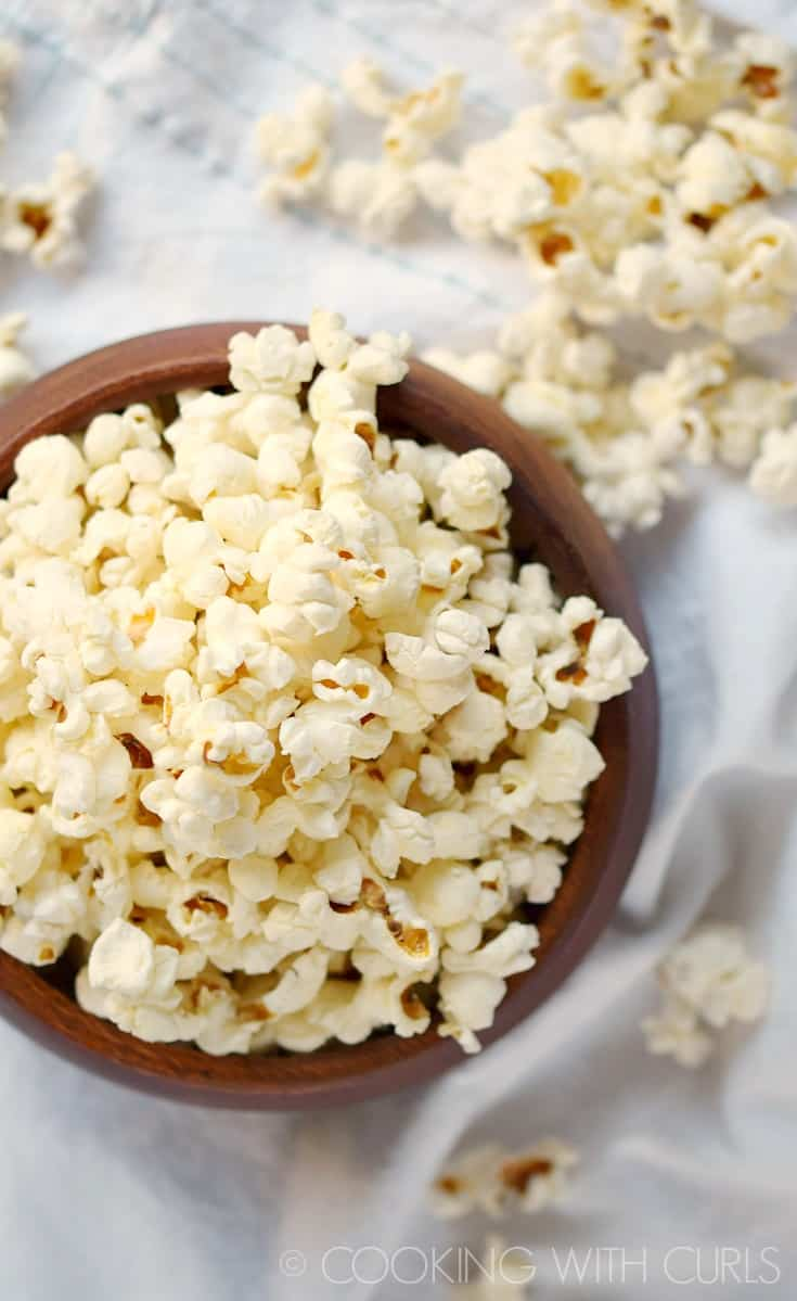 Instant Pot Popcorn is simple to make and delicious to eat! © COOKING WITH CURLS