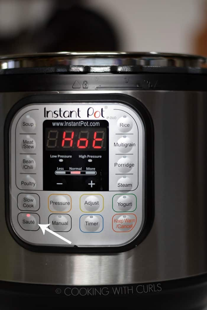 Instant Pot Saute HOT © COOKING WITH CURLS