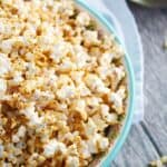 Taco Popcorn is a savory snack that your party guests and family will love! © COOKING WITH CURLS