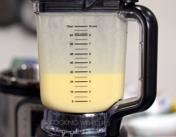Easy Blender Hollandaise Sauce in the blender © COOKING WITH CURLS