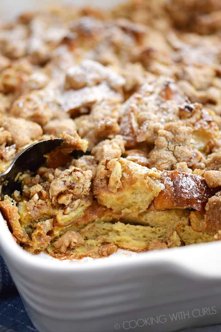 No one can resist digging into this delicious Cinnamon French Toast Bake as it comes out of the oven! © COOKING WITH CURLS