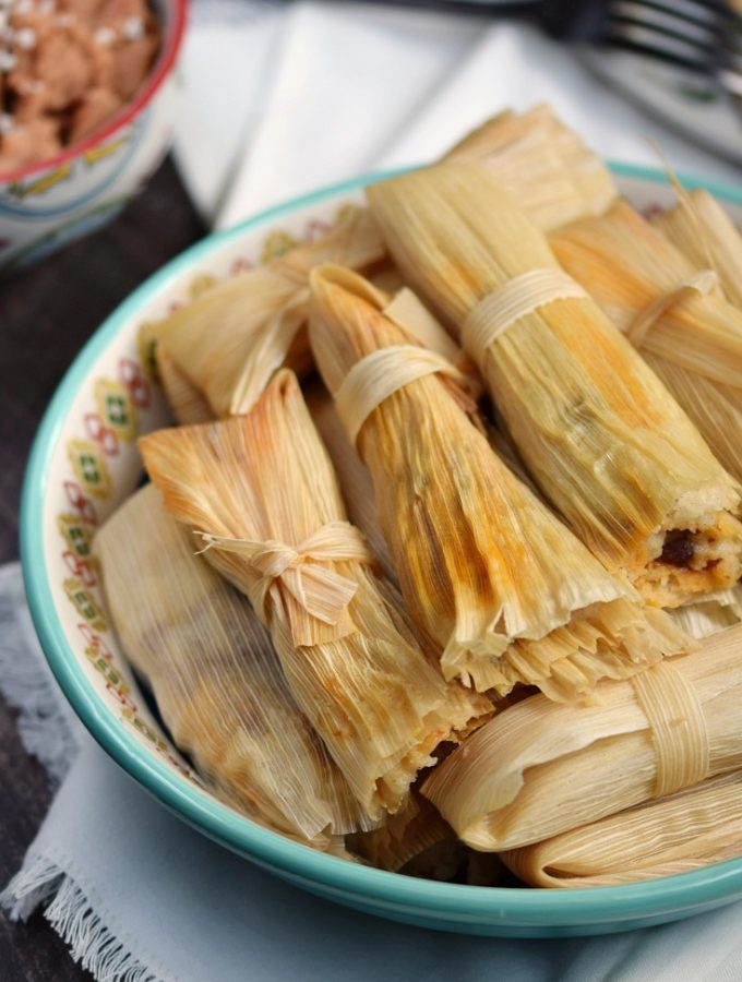 Ring the dinner bell, the Instant Pot Red Chile Pork Tamales are ready!! © COOKING WITH CURLS