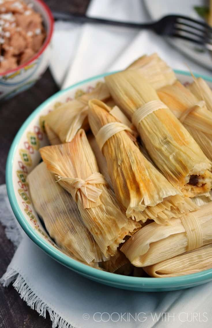 Instant Pot Red Chile Pork Tamales