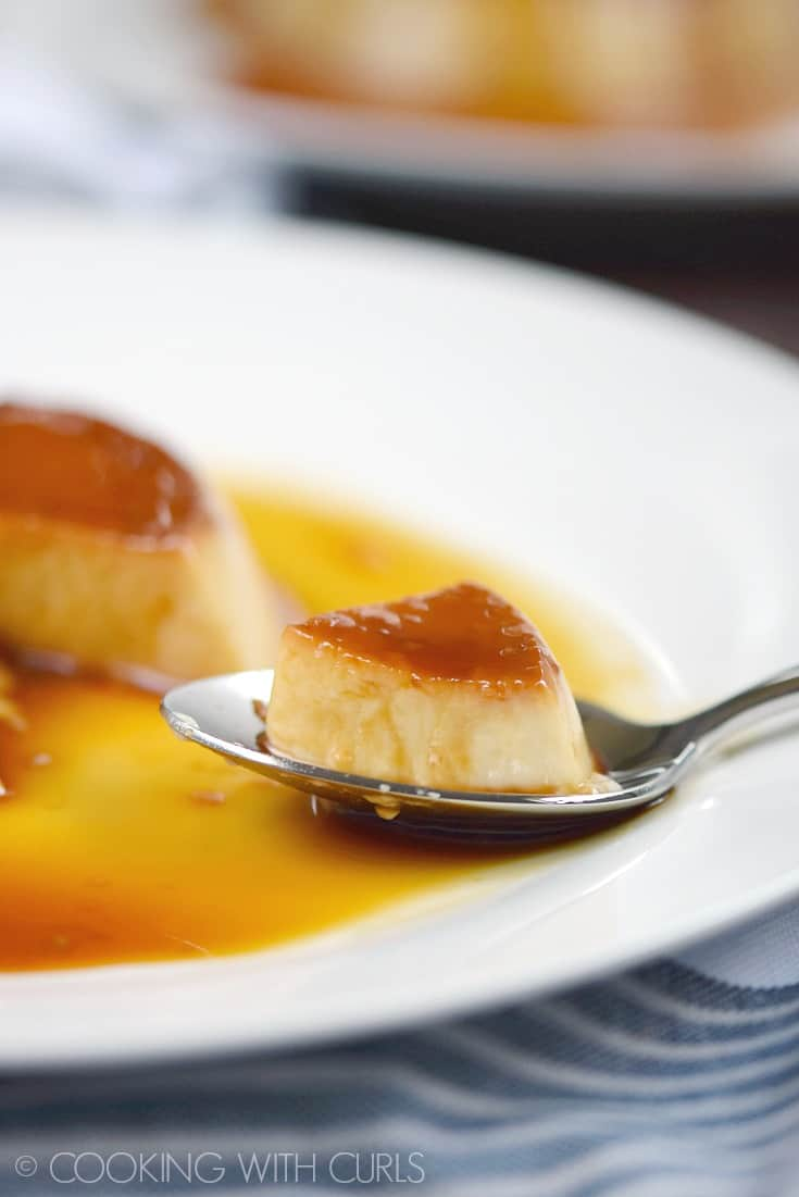 This Instant Pot Kahlua Flan has a silky smooth texture and it's swimming in caramel for the ultimate dessert served anytime of the year! © COOKING WITH CURLS