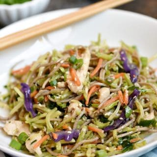 Asian Chicken Noodle Bowls - Cooking With Curls