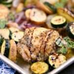 Sheet Pan Greek Chicken Dinner