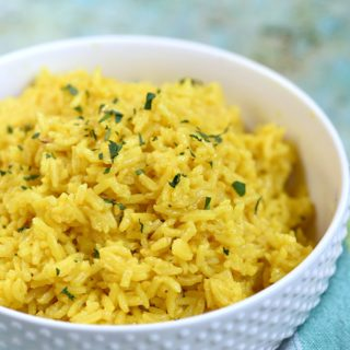 Instant Pot Yellow Rice is a must to go along side your favorite Middle Eastern meals © COOKING WITH CURLS