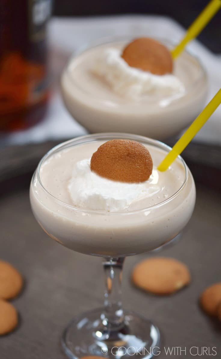 Sometimes you need a creamy, decadent Southern Banana Cream Cocktail for dessert, trust me!! © COOKING WITH CURLS