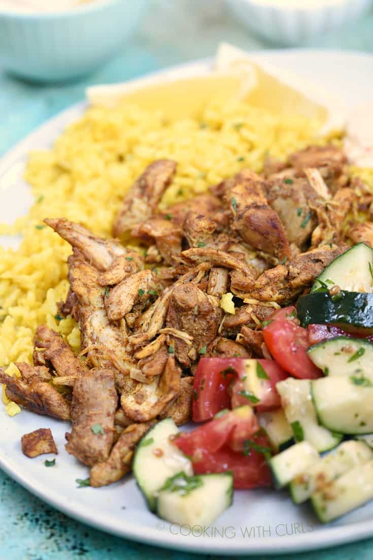 The amazing flavors in this Instant Pot Chicken Shawarma will keep you coming back for more! © COOKING WITH CURLS