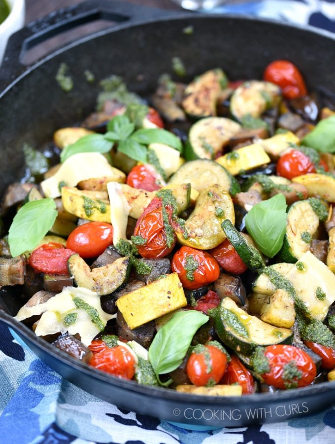 Charred Summer Vegetables are the perfect vegetarian meal or delicious side dish all summer long! © COOKING WITH CURLS