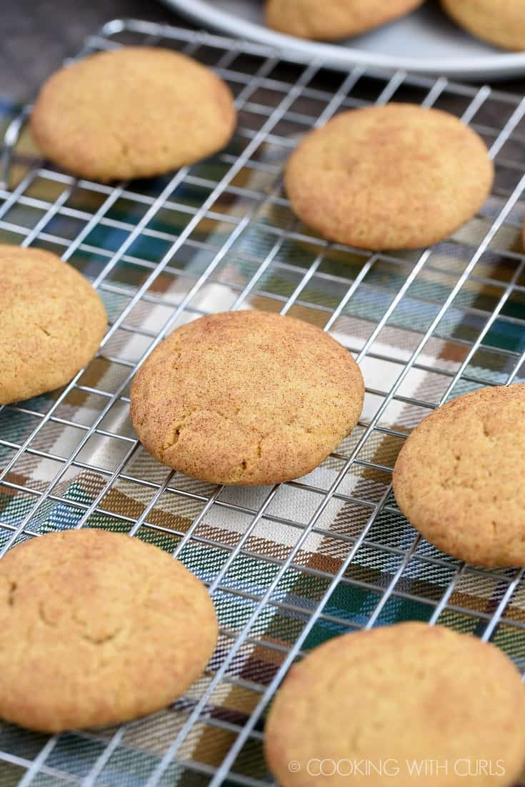 Pumpkin Spice Snickerdoodles cookingwithcurls.com