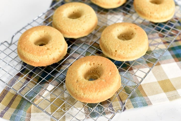Flip donuts out onto a wire cooling rack cookingwithcurls.com