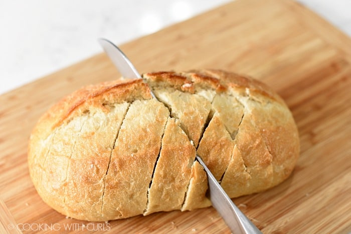 Flip the bread around and cut the opposite side on the diagonal cookingwithcurls.com