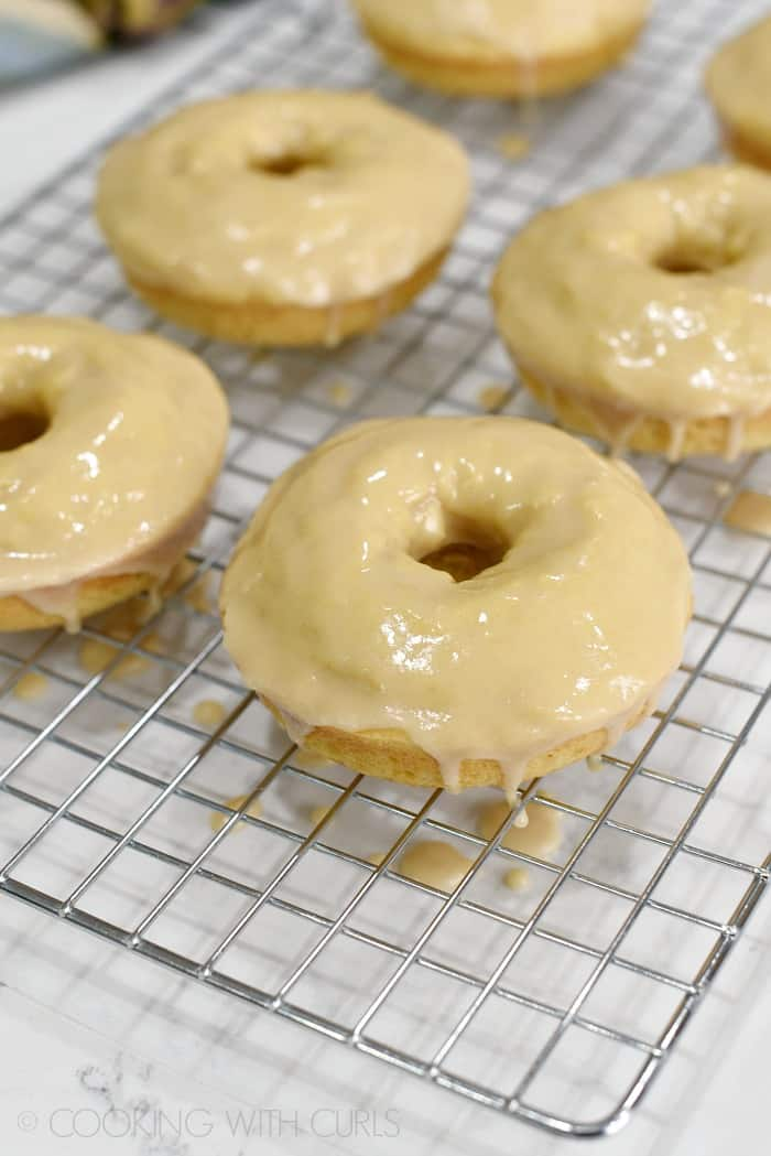 Maple Glazed Donuts, grab them while they're hot!! cookingwithcurls.com