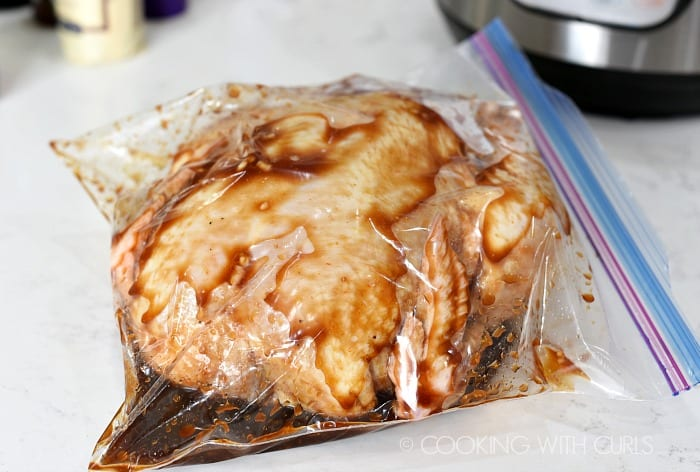 Marinate the chicken in a zipper top bag cookingwithcurls.com