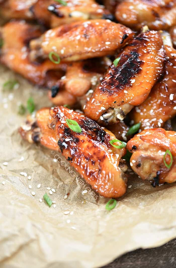 Grab your napkins and get ready to dig in to these crazy delicious Baked Teriyaki Chicken Wings! cookingwithcurls.com