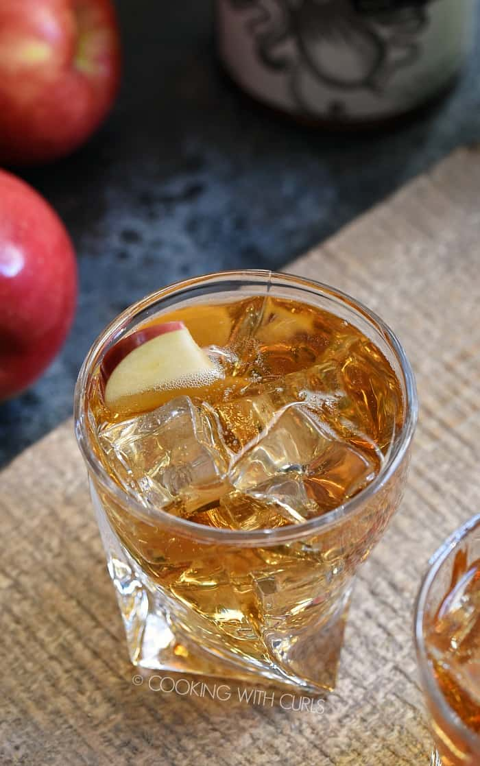 I have found your new favorite fall drink and it's called Sparkling Caramel Apple Cocktail. You're welcome! cookingwithcurls.com