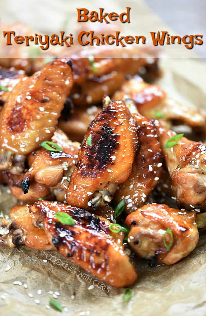 Your party guests will be fighting to get their hands on these oven Baked Teriyaki Chicken Wings!! #appetizers #gameday #partyfood #newyearseve #wings #chickenwings