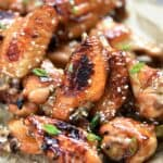 Your party guests will be fighting to get their hands on these Baked Teriyaki Chicken Wings!! cookingwithcurls.com