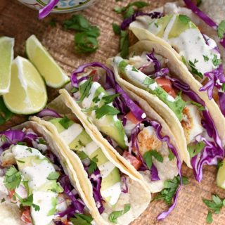 Prepare yourself for the best and easiest baked Fish Tacos recipe! cookingwithcurls.com
